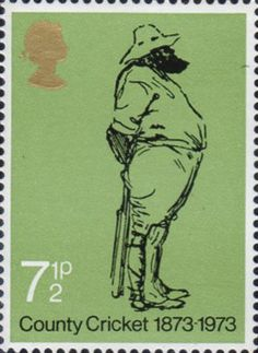 County Cricket 1873-1973 7.5p Stamp (1973) County Cricket 1873-1973