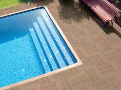 Porcelain stoneware outdoor floor tiles NEW TEK - POOL by REALONDA