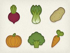Veggie Icons by Jory Raphael