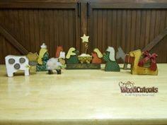 Nativity Set by Crafty Wood Cutouts