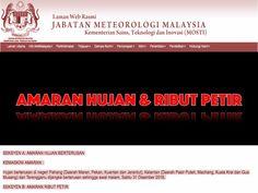 AMARAN HUJAN BERTERUSAN OLEH JABATAN METEOROLOGI MALAYSIA (KEMASKINI AMARAN : 31 DISEMBER 2016)