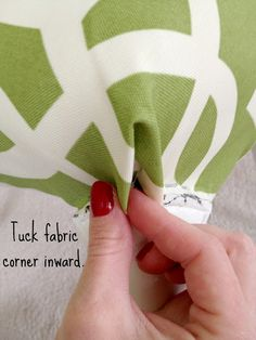 Upholstery Tips & Tricks | LiveLoveDIY - how to do corners. Heaps of tips on this site.