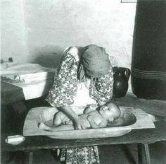 Croatia, Turopolje, - old time baby bath tub Romania People, Retro Kids, World Of Color, Historical Photos, Croatia, Vintage Photos, Keep It Cleaner, 1, Children