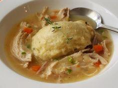 "Food Wishes Video Recipes: Chicken & Dumplings – Stewed Chicken with Thyme Crème Fraiche ""Dumplins"" best dumplings ever."