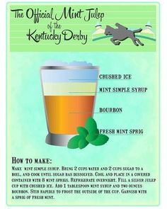 The Official Mint Julep of the Kentucky Derby. in honor of derby day! Derby Time, Derby Day, Wood Wick Candles, Soy Candles, Cocktail Drinks, Cocktails, Mix Drinks, Yummy Drinks, Alcoholic Drinks