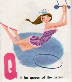 Q is for queen for queen of the circus