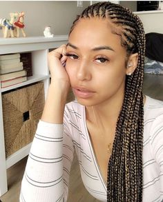 61 Totally Chic And Colorful Box Braids Hairstyles To Wear! Box Braids Hairstyles, Black Girl Braided Hairstyles, Baddie Hairstyles, Long Hairstyles, Korean Hairstyles, Bandana Hairstyles, Natural Hair Braids, Braids For Black Hair, Hairstyle Ideas