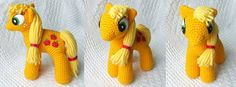 Knit One Awe Some: My Little Pony: Friendship is Magic  Though her name is Knit One, these are crocheted!