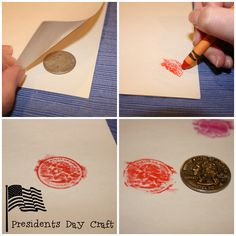 Presidents Day coin rubbings