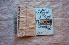 i love her journaling. Altered Books, Altered Art, Book Journal, Art Journals, Moleskine, Mixed Media Art, Recycling, Lettering, My Love