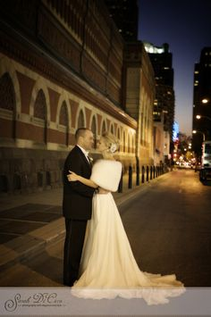 The wedding portraits were taken in the streets behind PAFA. The Pennsylvania Academy of the Fine Arts in Philadelphia.  copyright Sarah DiCicco