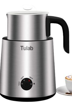 Tulab is committed to making the vast majority of people can make a cup of amazing Coffee at home. technology: multiple uses: by using different whisks, heating or freezing liquids, and making different thickness and fine foams with milk. It's good for making high quality lattes, cappuccinos, pure white coffee, hot chocolate and frozen milk. electromagnetic induction: compared with the traditional resistance wire heating technology, The advantages are: faster, more uniform heating, Milk Frothers, Electromagnetic Induction, White Coffee, Steamer, Best Coffee, Matcha, Kettle, Hot Chocolate, Coffee Maker