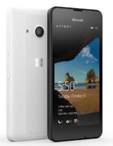 Review The Microsoft Lumia 550, Supported by Windows 10 Mobile from Microsoft, Display 5 inch, RAM 1GB, 1.1 GHz Qualcomm Snapdragon 210 Quad Core Processor, and 5 MP Camera. Specifications  1.1 GHz Qualcomm Snapdragon 210 Quad Core Processor 1GB RAM 5 Inch HD OLED Touch Screen Display With 293...