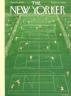 Tennis on the June 1960 cover of The New Yorker magazine. - Tennis on the June 1960 cover of The New Yorker magazine. Tennis on the June 1960 cover of The New Yorker magazine. The New Yorker, New Yorker Covers, Book Cover Design, Book Design, Tennis Posters, Vintage Tennis, Vintage Sport, Working Overtime, Tennis Clubs