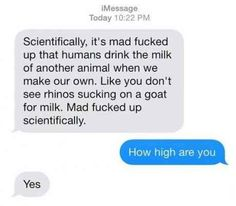 When this guy was probably too high to be texting: Here Are 33 Very Good Text Messages And I Guarantee At Least One Will Make You Laugh Satire, How High Are You, Text Fails, Funny Text Messages, Sms Text, Matthew Daddario, Text You, Funny Cute, Super Funny