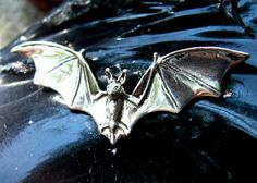 Flying Bat Necklace or Pendant in Sterling by diggersgoldjewelry, $30.00