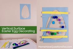 Easter Egg Decorating on a Vertical Surface -- Fun craft for Easter.