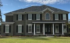 This home would lack a certain amount of depth without shutters to add character. Exterior Shutters, Shades Blinds, Window Treatments, Schedule, Windows, Mansions, House Styles, Free, Character