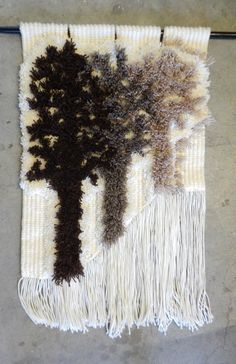 Vintage Macrame Wall Hanging / Fiber Arts by rustygold73 on Etsy