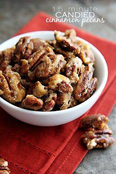 15 Minute Candied Cinnamon Pecans