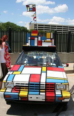 Mondrian Art Car, Baltimore.