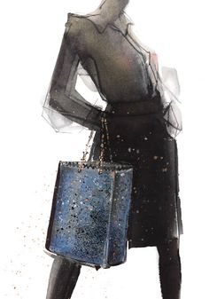 Fashion illustration by Maria Remedios Kleinschmidt (2012) #fashion…