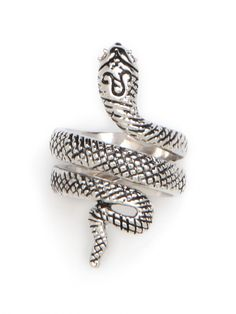 Our SIlver Snake Ring.  So. Good.  $32