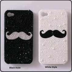 Big New Style Schnurrbart DIY Telefon Fall Dekoration Hollow Kit & Free. Bling Phone Cases, Iphone 6 Cases, Diy Phone Case, Cute Cases, Cute Phone Cases, Diy Coque, Capas Iphone 6, Cool Mustaches, Moustaches