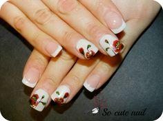 So-cute-nail: Coquelicot nail
