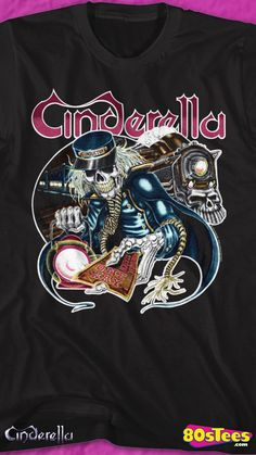 466da745 This Cinderella t-shirt shows a skeleton conductor holding a one way ticket  to board