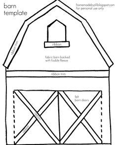 barn template (for felt board)