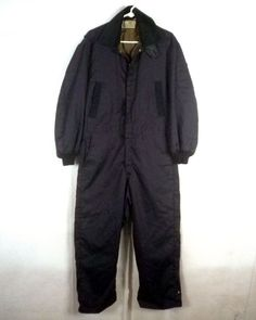 a3670f58e vtg 50s 60s Sears Work Clothing blue sateen Insulated Suit Coveralls  mechanic 42