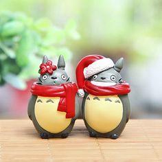 Jardín de hadas miniatura Set de Navidad Totoro jardín accesorios planta 2 / casa de muñecas /Garden decoración terrario accesorios