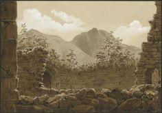 Eugène Viollet-le-Duc, les pics du fond de la vallée d'Argelès, 04 juillet 1833 Lavis gouache Ministère de la Culture (France), Médiathèque de l'architecture et du patrimoine, dist. RMN