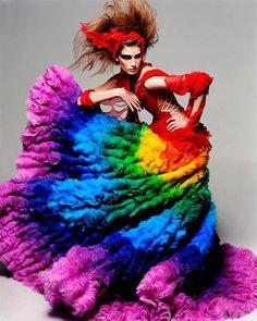 Alexander McQueen - Rainbow Shipwreck Dress - Haute Couture 2003