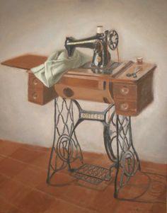Old sewing machine still-life - WetCanvas