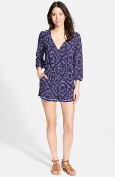 Photography: Nordstrom - shop.nordstrom.com/s/sanctuary-shibori-print-surplice-romper/3996701?cm_cat=partner&cm_ite=1&cm_pla=10&cm_ven=Linkshare&siteId=J84DHJLQkR4-sCgGwGhtobafM0bupAY1eg  View entire slideshow: Summer\'s Best Rompers on http://www.stylemepretty.com/collection/1702/