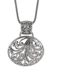 Sunstone Sterling Silver Filigree Oval Bali Necklace | Overstock.com Shopping - Top Rated Sunstone Sterling Silver