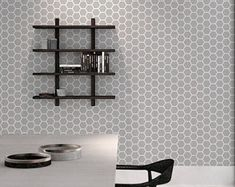 Honeycomb Wallpaper - Geometric Pattern - Removable Wallpaper - Peel and Stick - Wall covering - Wall Mural - Wall Decal - Reusable - 44
