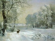 Winter Scenes Christmas Art 08