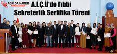 A.İ.Ç.Ü'de Tıbbi Sekreterlik Sertifika Töreni