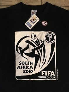 da54f033d18 FIFA World Cup Soccer T-shirt Vintage South Africa 2010 Tee Mens LARGE NWT