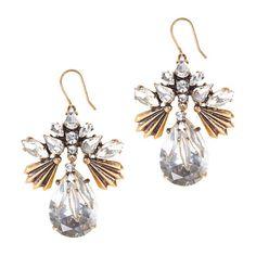 Fanned droplets earrings, J. Crew, 58-