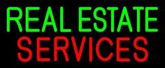 Real Estate Services 1 Neon Sign