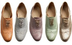 pastel coloured oxfords