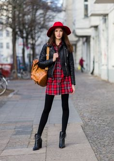 winter combinations with hats