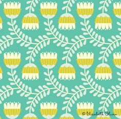 Elizabeth Olwen - Plant life pattern 3.  Would love to do a cooky, retro little kids room  : )