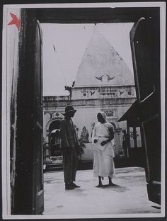 #Trinidad and Tobago. 'Working conditions in the West Indies. The third of the population are Indians. Hindu temple near Port of Spain'
