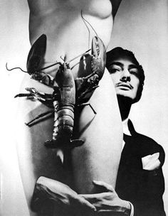 """Is this a first in print photograph? This photograph was taken by George Platt Lynes, and it was part of the surrealist painter, Salvador Dali's """" The Dream of Venus& Salvador Dali Gala, Salvador Dali Kunst, Salvador Dali Paintings, Man Ray, Elsa Schiaparelli, Nude Photography, Black And White Photography, Frida Art, Magritte"""