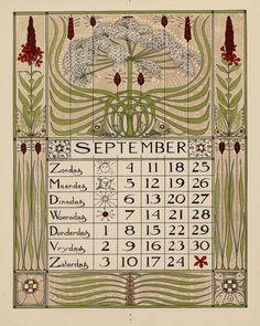 40 x 29 cm. Vintage Calendar, Art Calendar, Calendar Girls, Geometric Quilt, Art Nouveau Tiles, Flower Ornaments, Vintage Book Covers, Medieval, Vintage Artwork